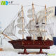 Wholesale wood ornaments decorative model wooden toy sailing boats