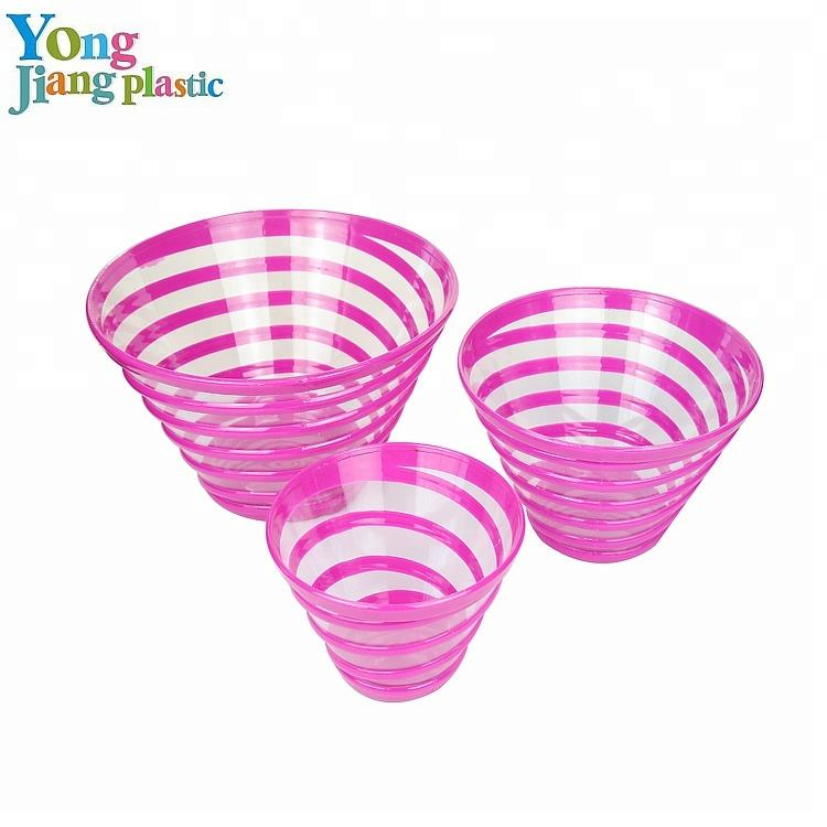 Chinese food mini colorful plastic ice cream bowl