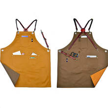 professional factory custom coffee shop uniform cotton kitchen apron