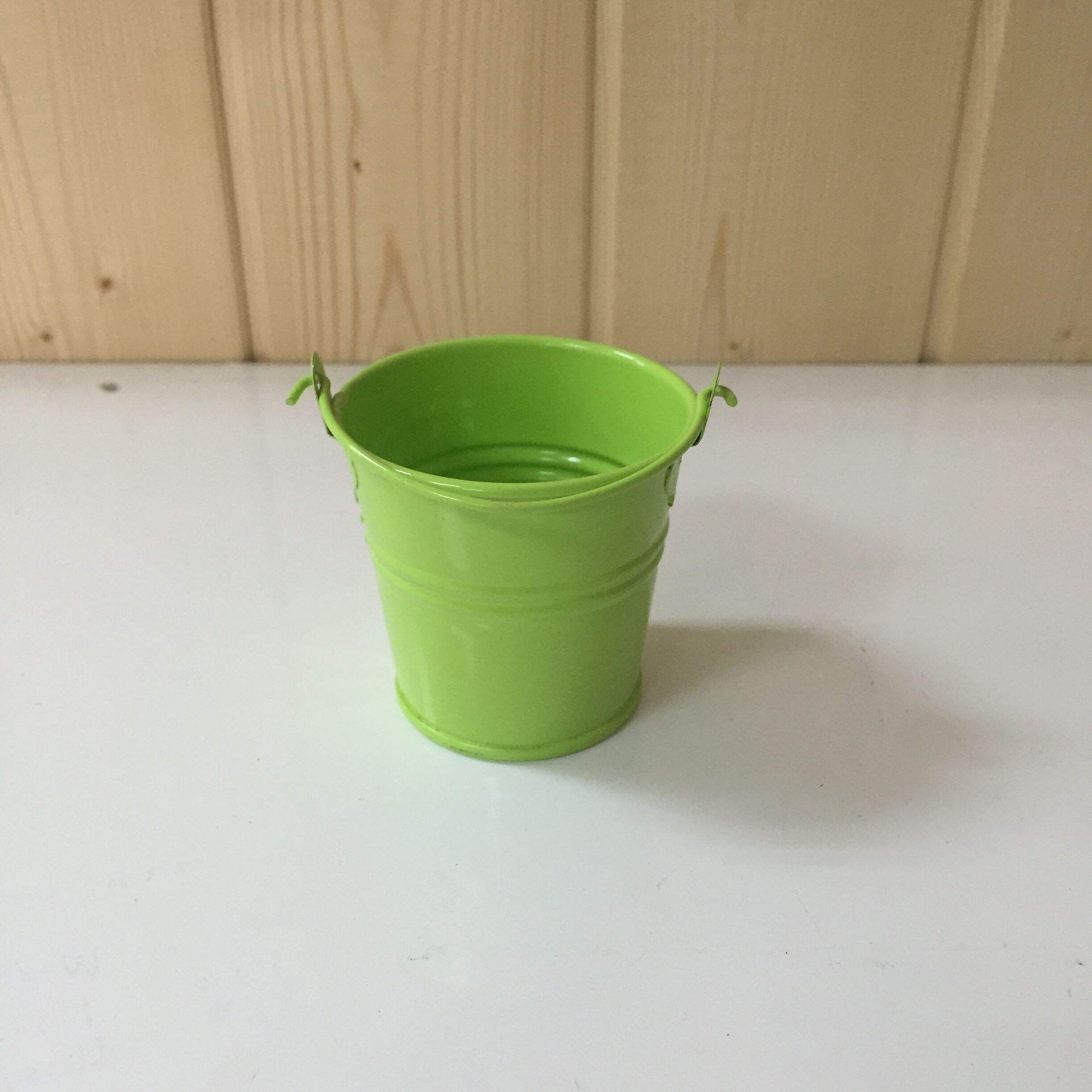 Garden Flower Planter Mini Galvanized Metal Flower Bucket Home Decoration