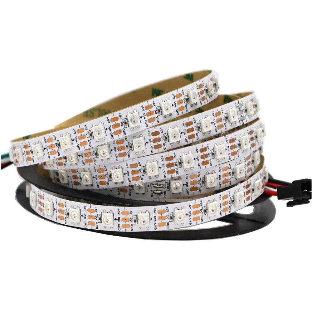 Indivally מיעון ws2812b 60led/m rgb חלום צבע led רצועת פיקסל 5 m