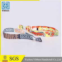 Promotional Quality-Assured Custom Design Woven Festival Wristband for promotion