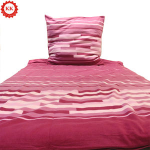 Cotton Design Duvet Cover with 1 Comforter Cover 1 Bed Sheet and 2 Pillow ZXX Reversible Stripes Printed Bedding Set 4 Piece Duvet Cover Sets Queen