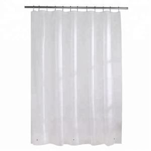 Clear Waterproof Vinyl Shower Curtains with Weighted Bottom & Magnets