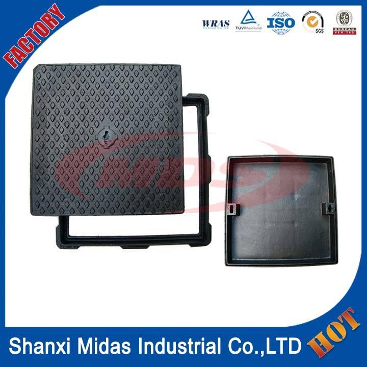 Heavy duty квадратный высокопрочного чугуна крышки люков с рамкой EN124 Класс E600 для муниципальное строительство