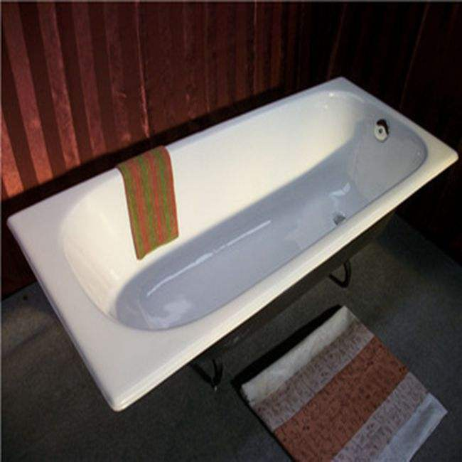 China Manufacturer Embedded Iron Cast Bathtub For Hot Bath