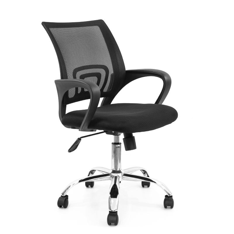 Hot Sale on Line Swivel Chair Price Black Mid-back Mesh Office Chair Computer Desk Chair