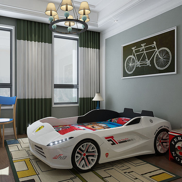 Race car bed for toddler boy funiture for children room