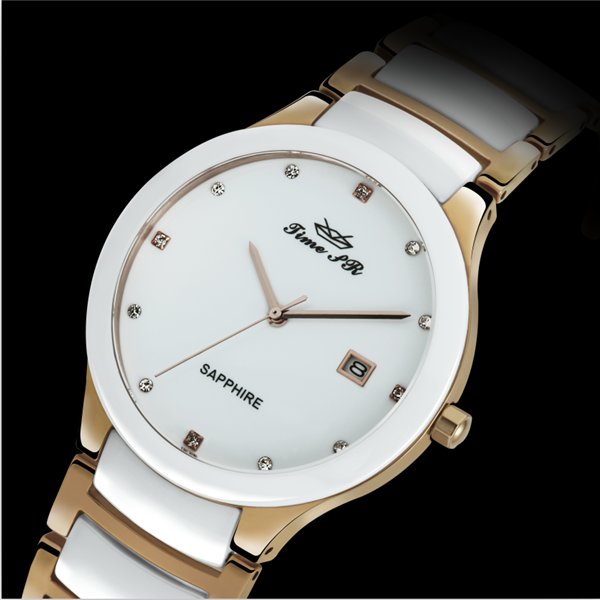 Women ceramic details quartz watches