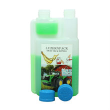 500ml HDPE Can Fluoride Twin Neck Pesticide Plastic Bottle With Child Proof Cap