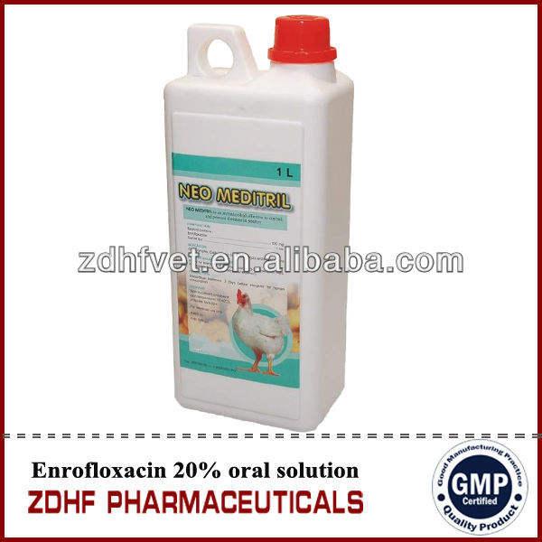 أعلى بيع الدواجن/ الدجاج 10% enrofloxacin الطب الحل عن طريق الفم