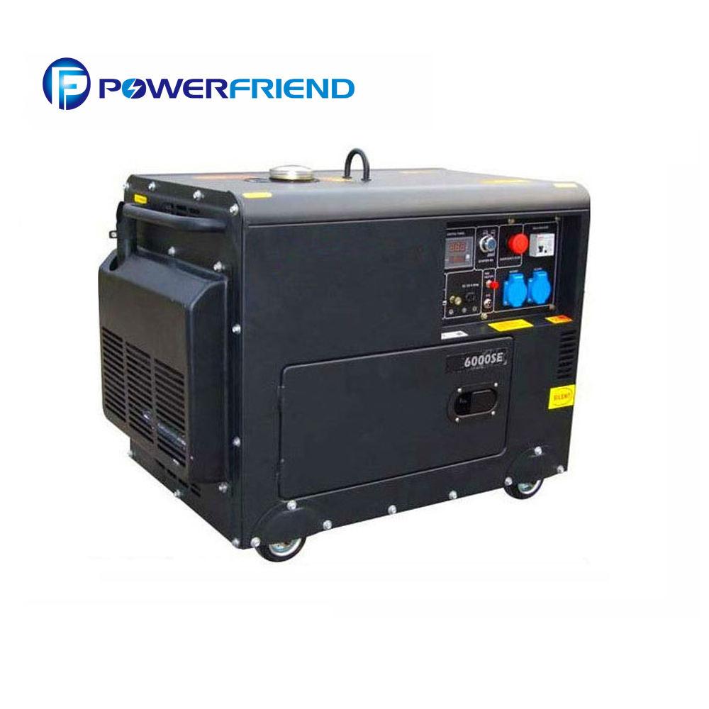 نوع المحمولة دينامو توليد الديزل الهواء التبريد الصامت 10kva مجموعات مع سعر المصنع