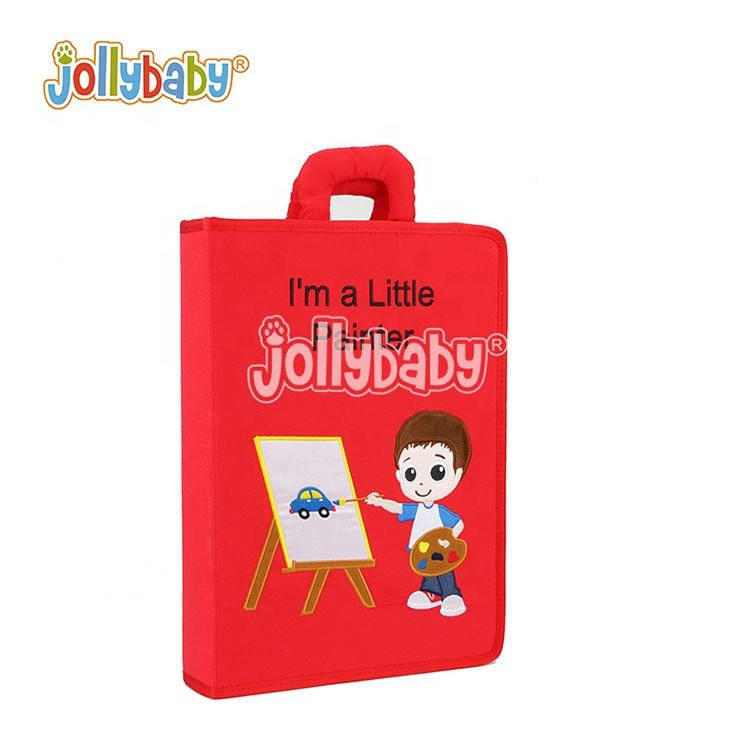Jollybaby I'm a little painter Cloth book Educational Book Early Learning preschool material