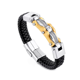 Classic Styles Small MOQ Bulky Metal Charms Leather Bracelets and Silver, Thick Leather Bracelets