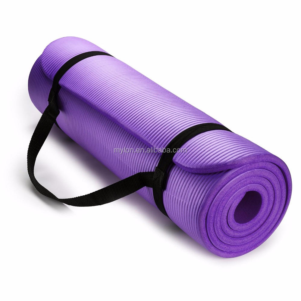 1/2 Inch Extra Dikke Hoge Dichtheid Nbr Oefening <span class=keywords><strong>Yoga</strong></span> <span class=keywords><strong>Mat</strong></span> Voor Pilates Fitness & Workout W/Draagriem