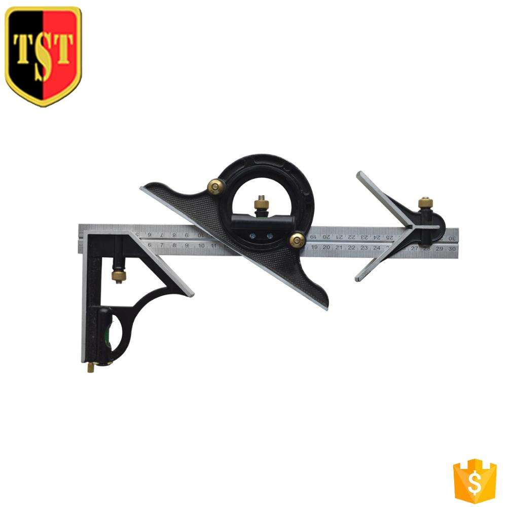 3 In1 Adjustable Ruler Multi Cast Iron Combination Square Set Angle Finder