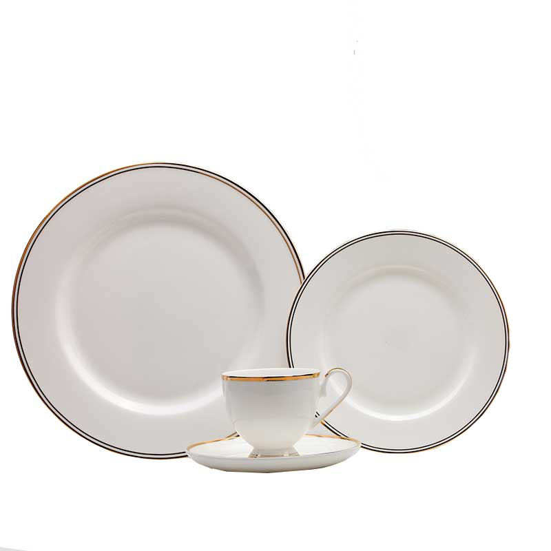 European Phnom Penh Hot Sale Wedding Party Ceramic Plates and dishes restaurant Fine Bone China Dinnerwaren