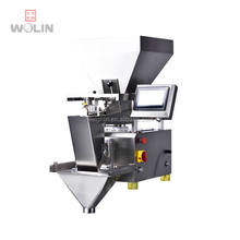 Smart intelligent easy operation automatic portion 1head 2 hopper weight filler dispenser for rice beans seeds powder 10-1500g