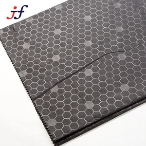 Football Lattice 100% Polyester PA Coated Embossed 190T Taffeta For Luggage Material