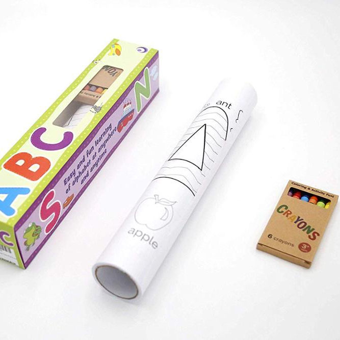 Customized Coloring Roll with Crayons