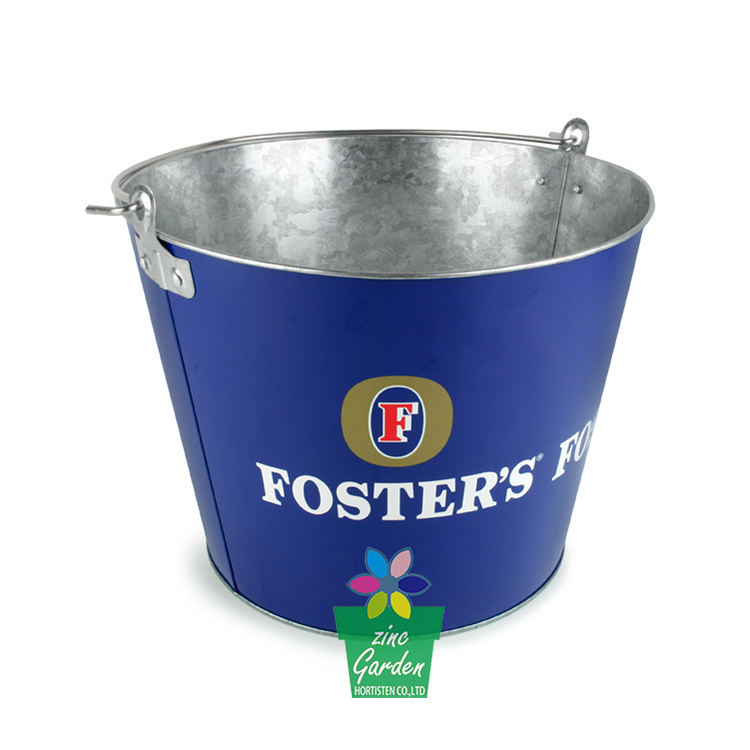 Wholesale 6 bottles beer ice cooler personalized galvanized metal champagne bucket