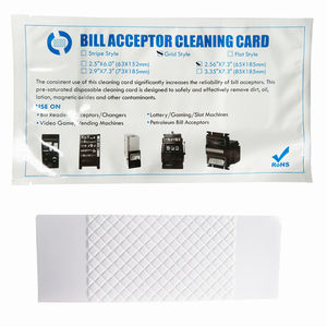 Enkele Note Banknote Verifier Cleaning Card Bill Acceptor/Validator Voorverzadigd Cleaning Card
