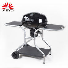 Deluxe Trolley Design Charcoal Barbecue Kettle Apple Shape Bbq Grill With Wheels