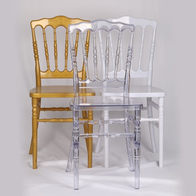 Wedding Event Party Banquet Resin Clear Napoleon Chair
