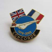hard enamel CONCORDE friendship flag lapel pin