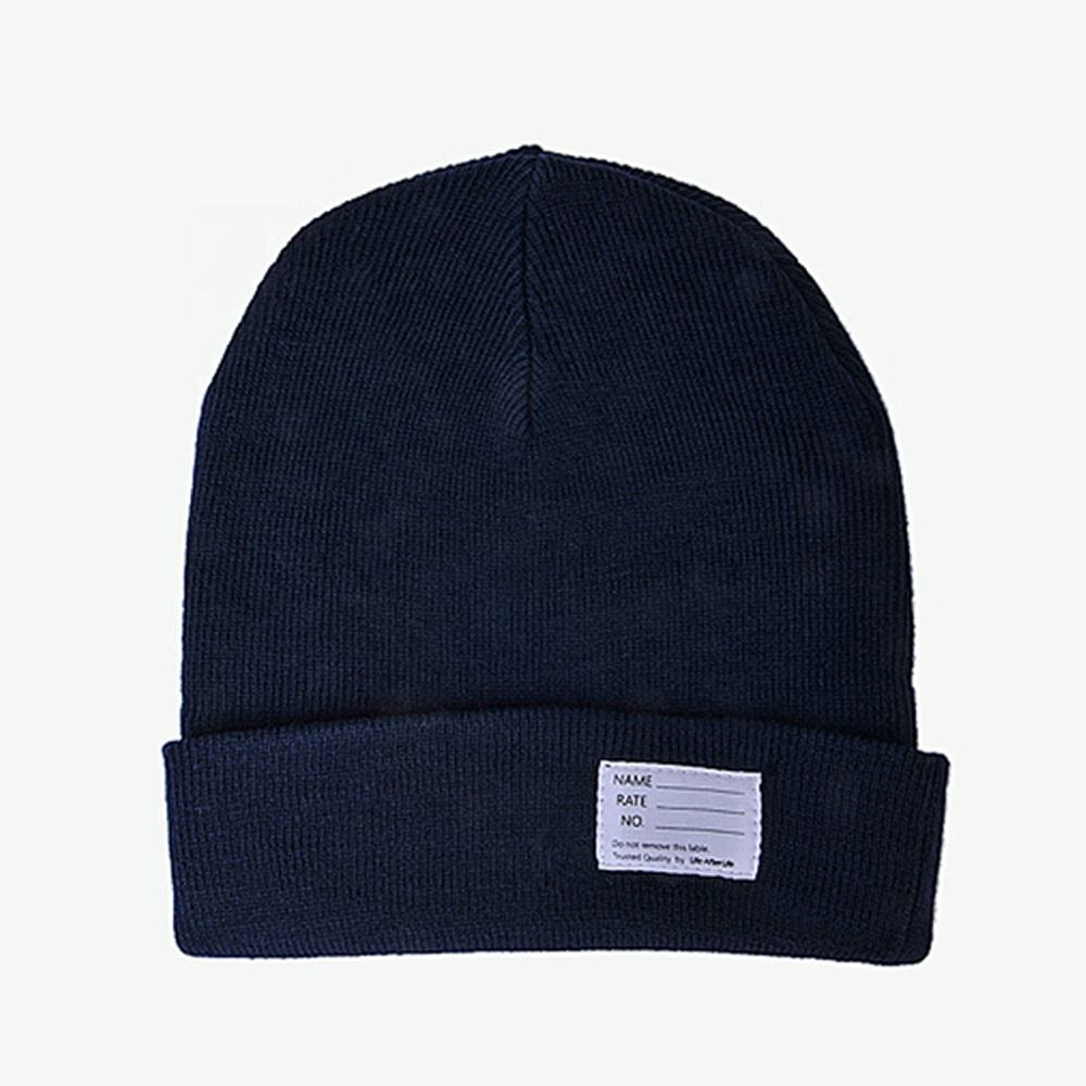 authentic beanie hat/winter running blank men knitted cap