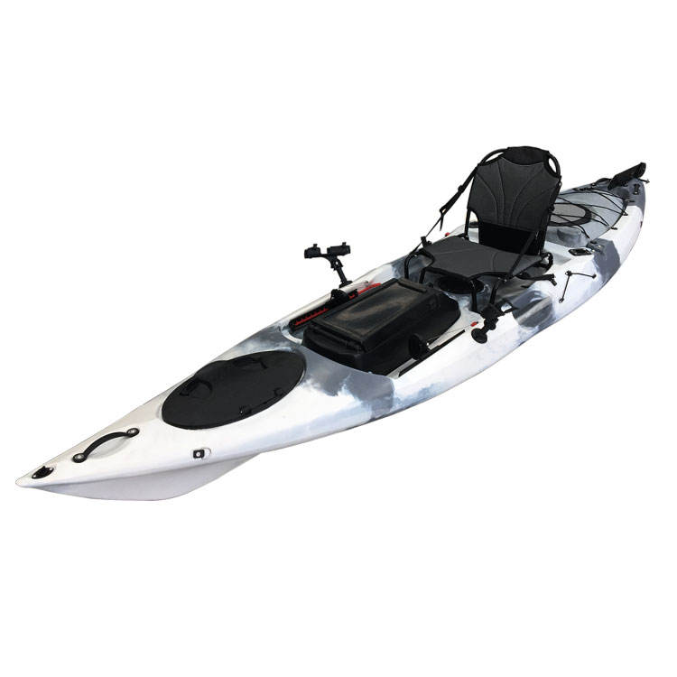 Hot Sale Wholesale Single Ocean Fishing Kayak with Motor Trolley