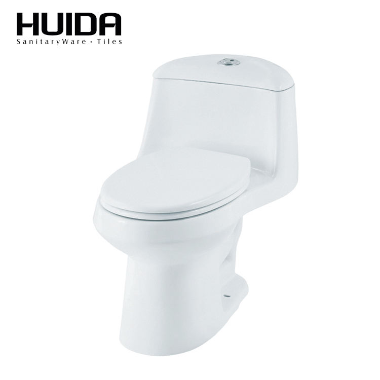 HUIDA s- trap 305mm installation floor mounted one piece jet siphonic dual flushing toilet