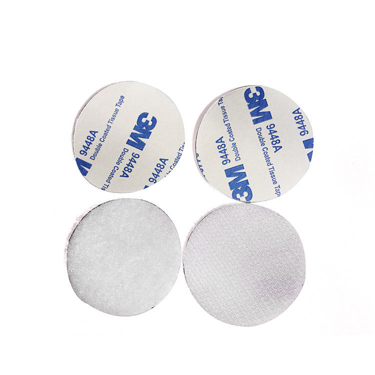 50 Loop VELCRO® brand 13mm Dots WHITE Self Adhesive Sticky Coins Hook 50