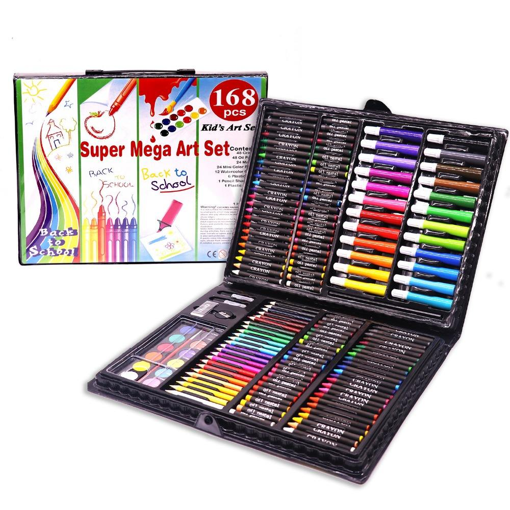 Manufacturers price silky sense colorful box crayons 168 Pieces, Art Set, Easter Gift