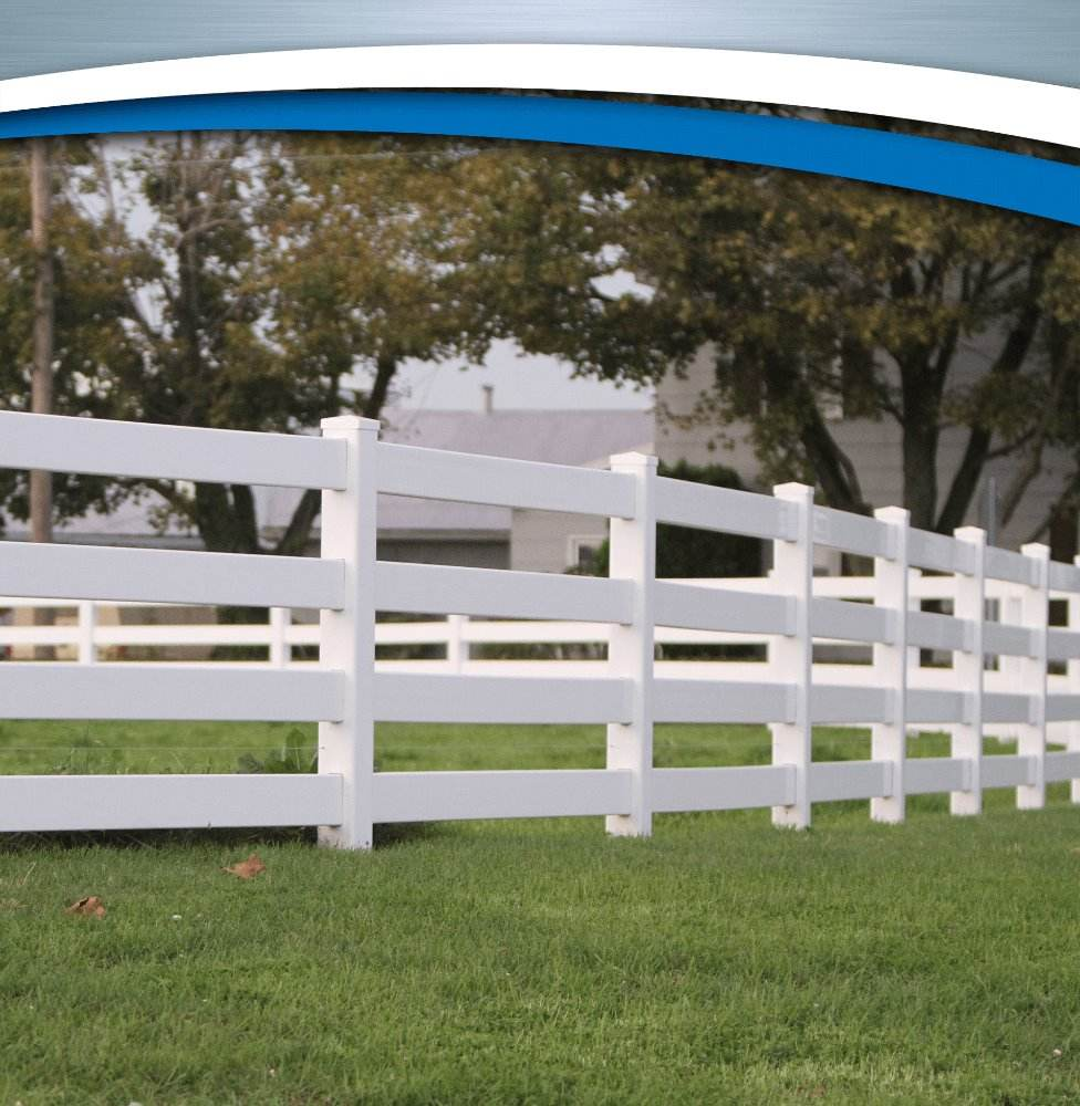 SAM-UK white plastic High Quality Strong PVC Ranch Fence
