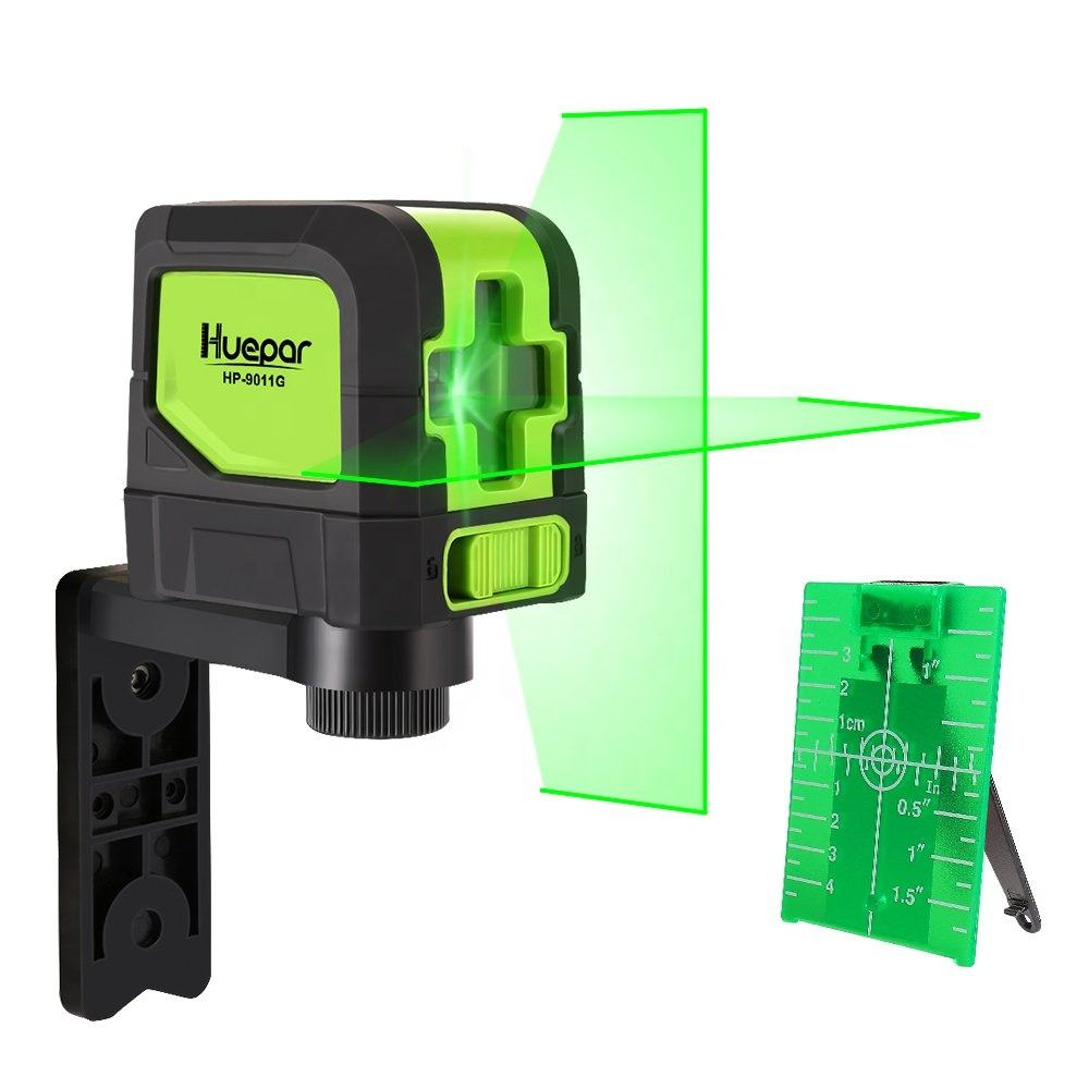 huepar 9011G Cross Green Beam Line Laser Horizontal and Vertical Line Laser Level /nivel laser