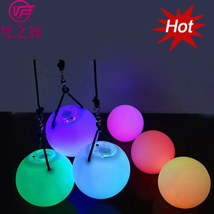 P-9033 Popular practice colorful belly dance led poi ball for stage