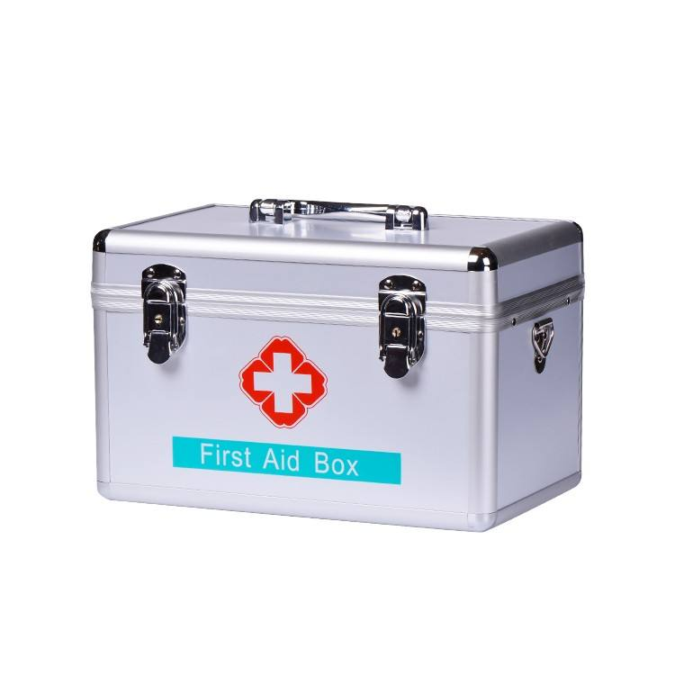 Medical Storage Hard Case Empty Aluminium ABS First Aid Kit Box