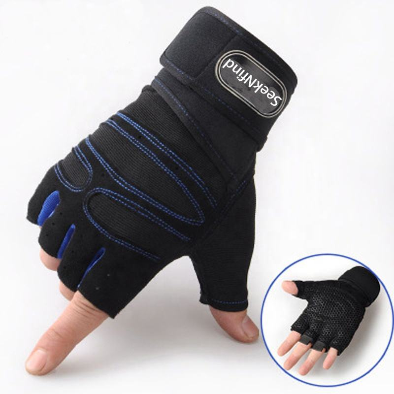 Half Finger Sports Gym Gloves Weightlifting Cycling Gloves Workout Bike Gym Custom Gym Gloves