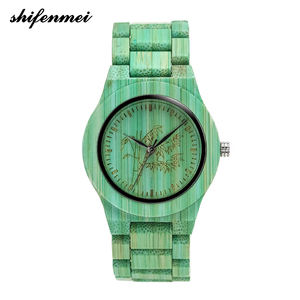 2019 New Arrival Bamboo Wooden Watch, Custom Logo Japan Movt Quartz Wood Watch
