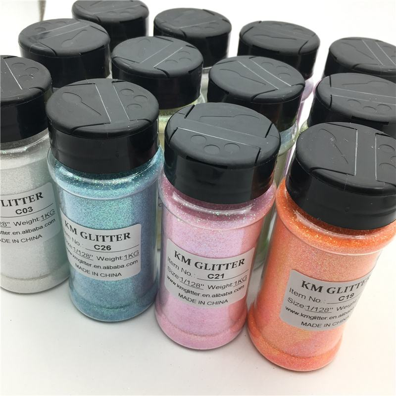 2OZ Glitter Shaker Jars Factory Supply Wholesale Holographic Glitter for Crafts Decoration 4OZ 8OZ 16OZ