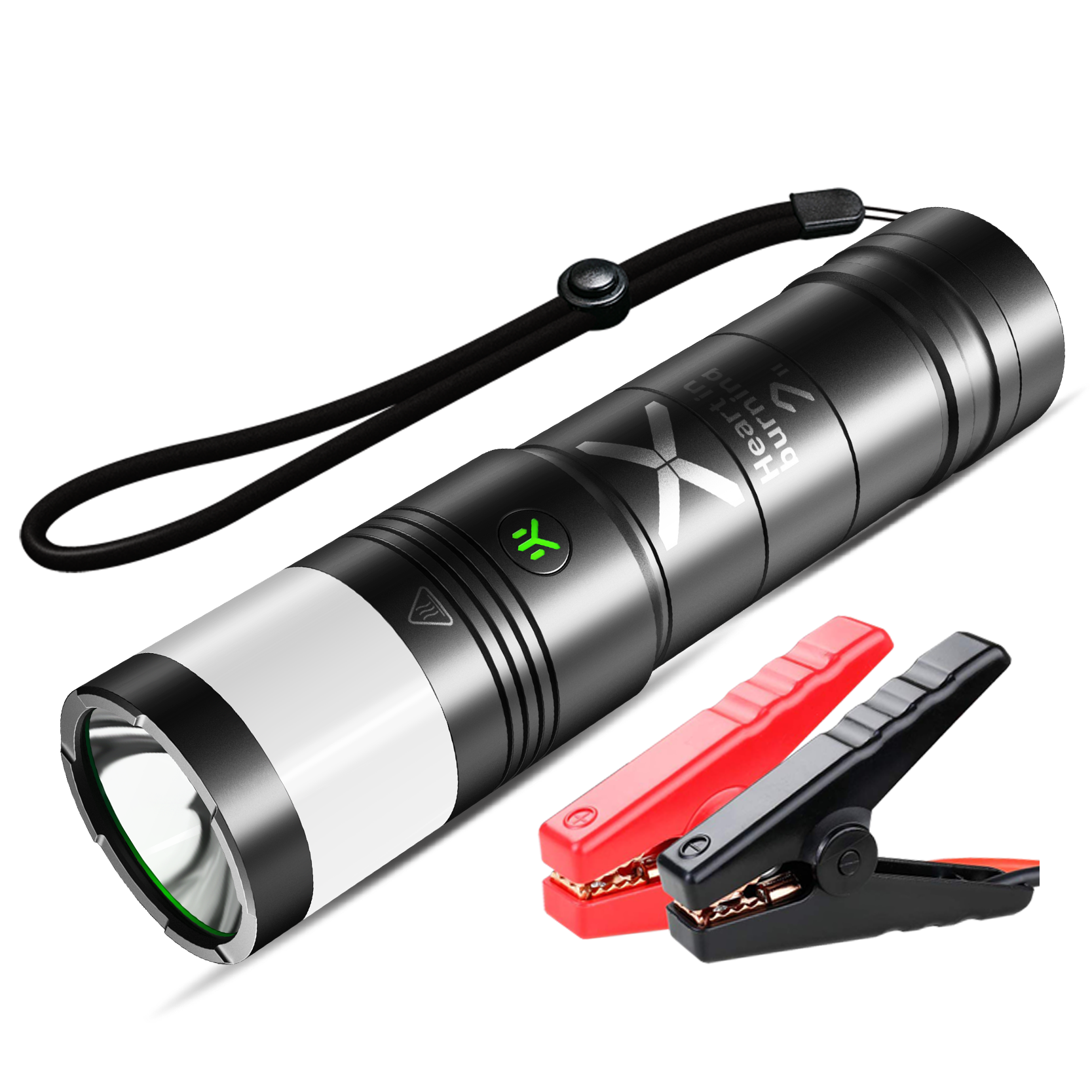 Strong magnetic suction powerful car booster starter 60C start car quickly portable flashlight lithium jump starter