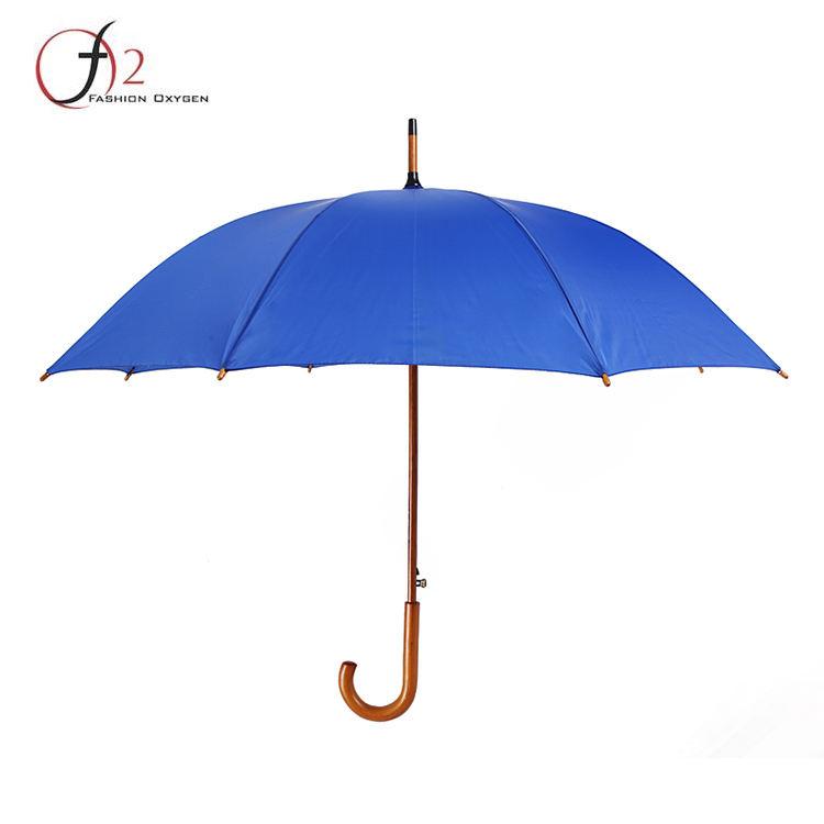 Ucuz fiyat ahşap-promosyon logosu baskılı düz şemsiye