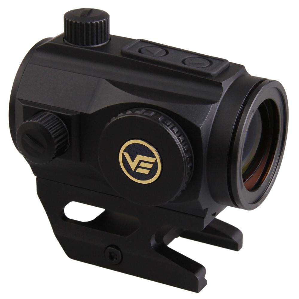 Vector Optics 1x25 Red Dot Sight 2MOA Dot Size 20000 Hours Runtime Absolute Co-witness for 30-06 and 12 GA
