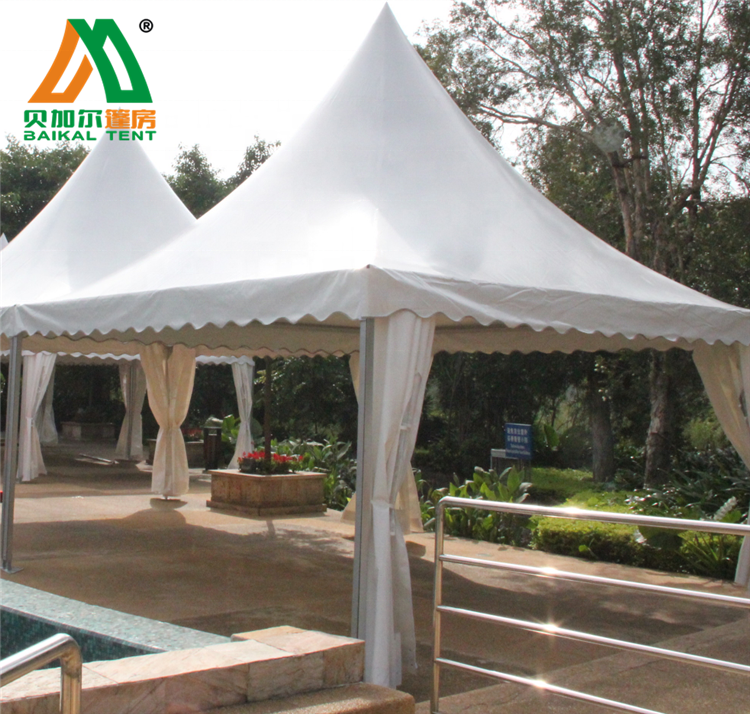 5X5m Aluminum PVC Gazebo Pagoda Marquee Tent for Events