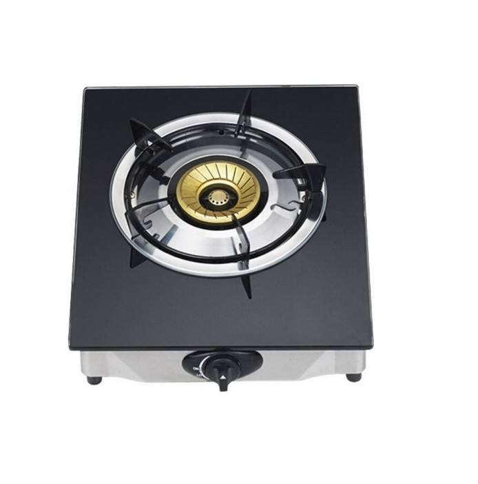 Tempered 7mm Glass Single gas stove/Brass burner /portable gas cooker