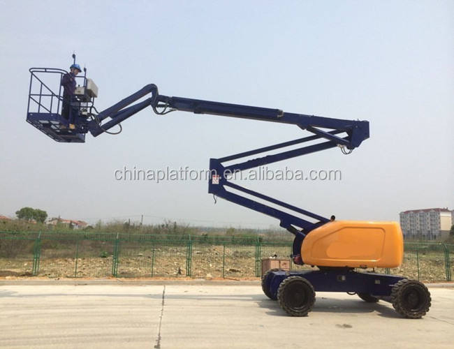 self propelled hydraulic one man lift telescopic boom lift diesel boom lifts