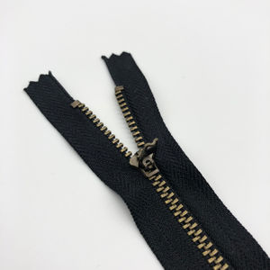 cheap brass metal yg zipper 15cm for jean pant
