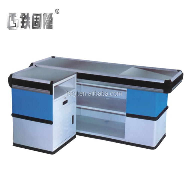 Factory direct price fashion design cash counter for garment equip checkout double sided sale