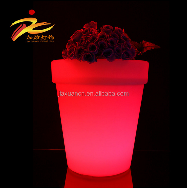 RGB color led flower pot/modern led furniture lighting/Outdoor led pot lights
